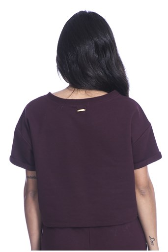 Blusa Cropped Photos Long Island Bordo