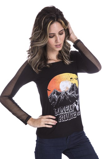 Blusa Manga Longa Long Island Lonely