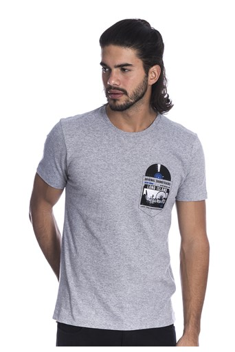 Camiseta Long Island Disc Cinza