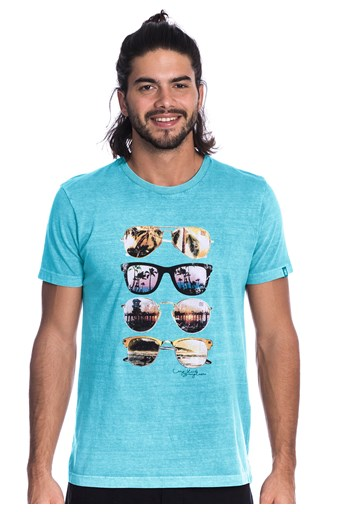 Camiseta Long Island Glasses Azul