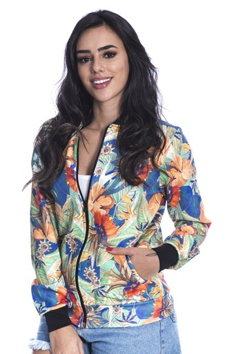 Jaqueta Bomber Long Island Flower