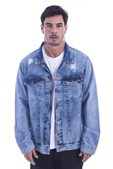 Jaqueta Jeans Long Island Destroyed