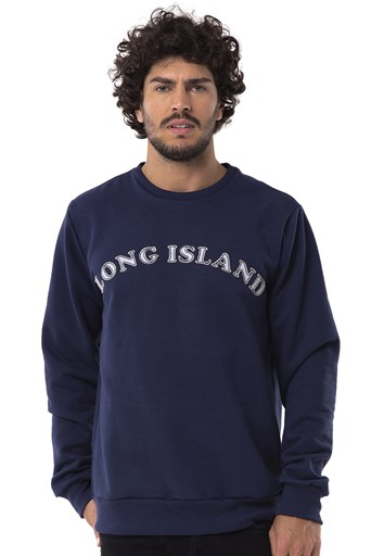 Moletom Long Island Basic Marinho